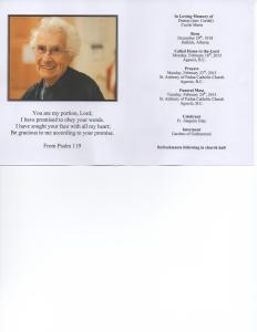 Cecile Funeral Card1